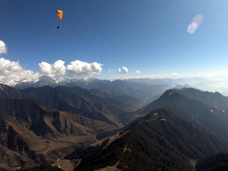 Loty paralotnią w Himalajach